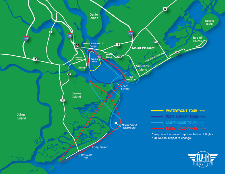 Things To Do In Charleston SC - Fort sumter on us map